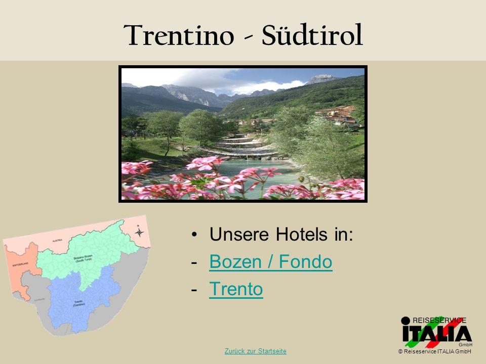 Trentino - Südtirol Unsere Hotels in: Bozen / Fondo Trento