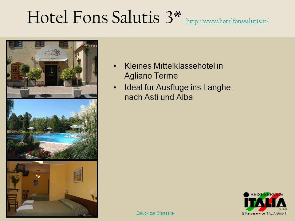 Hotel Fons Salutis 3* http://www.hotelfonssalutis.it/