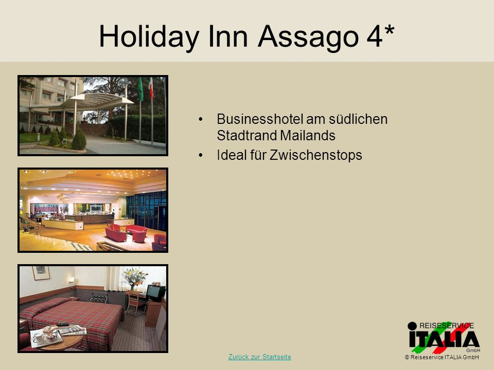 Holiday Inn Assago 4* Businesshotel am südlichen Stadtrand Mailands