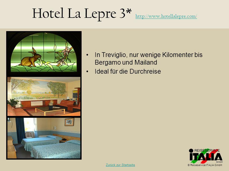 Hotel La Lepre 3* http://www.hotellalepre.com/
