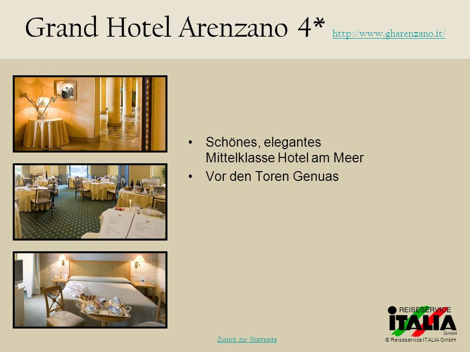 Grand Hotel Arenzano 4* http://www.gharenzano.it/