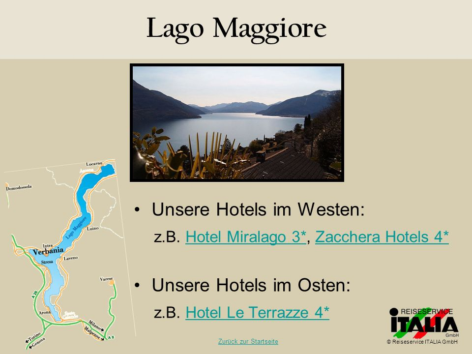 Lago Maggiore Unsere Hotels im Westen: