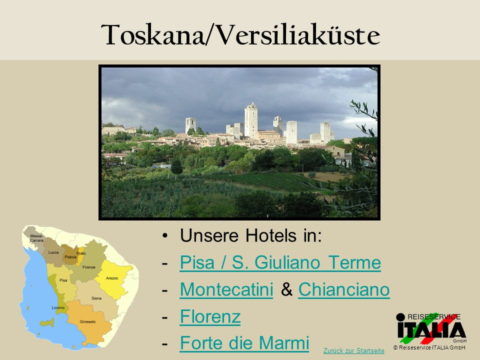 Toskana/Versiliaküste