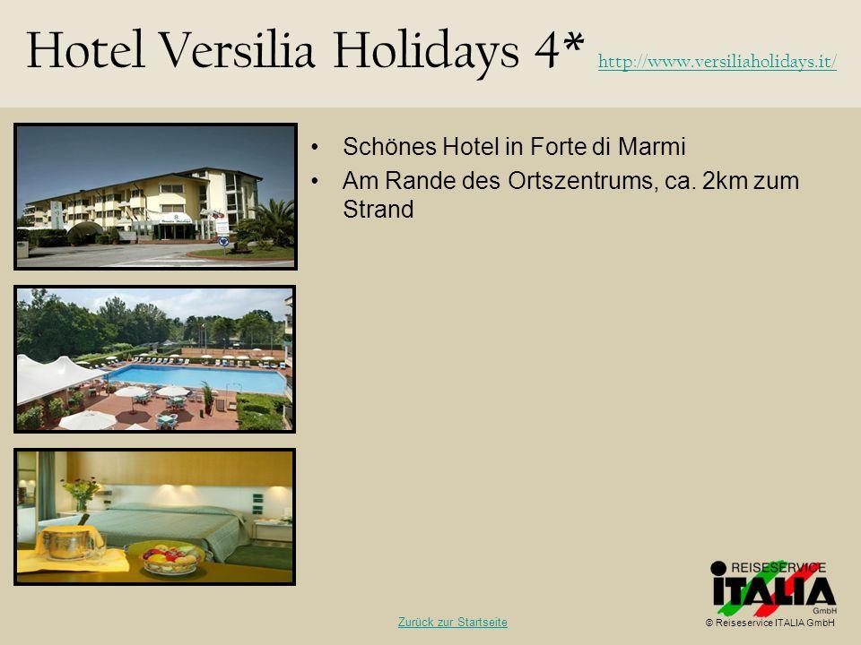 Hotel Versilia Holidays 4* http://www.versiliaholidays.it/