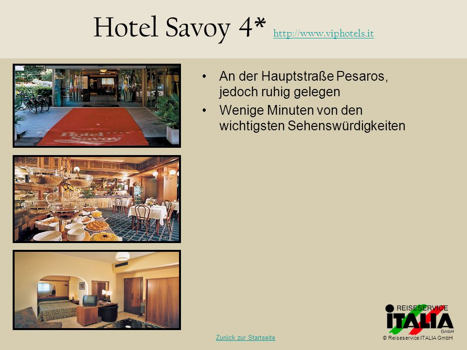 Hotel Savoy 4* http://www.viphotels.it