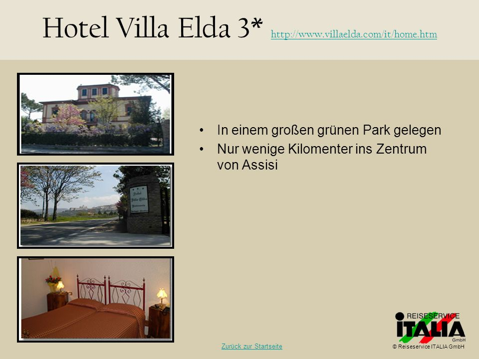 Hotel Villa Elda 3* http://www.villaelda.com/it/home.htm