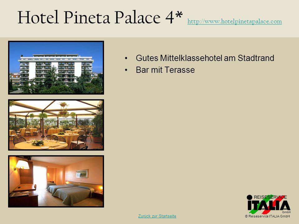 Hotel Pineta Palace 4* http://www.hotelpinetapalace.com