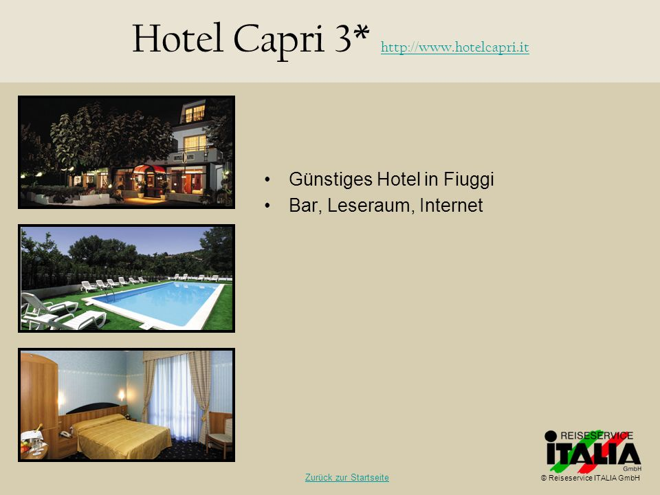 Hotel Capri 3* http://www.hotelcapri.it