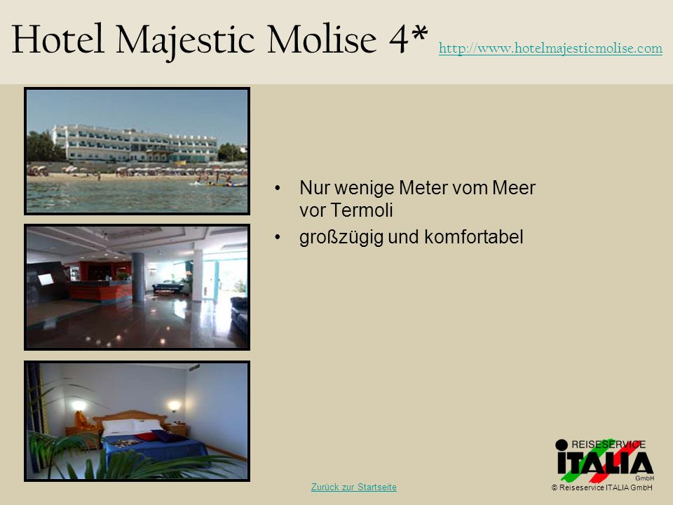 Hotel Majestic Molise 4* http://www.hotelmajesticmolise.com