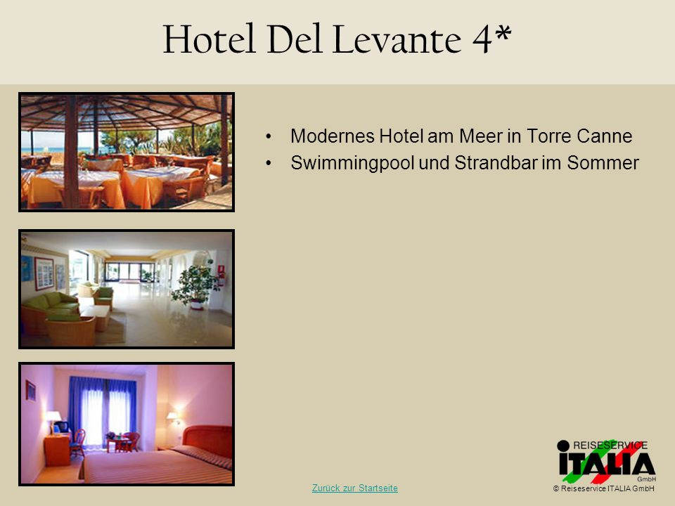 Hotel Del Levante 4* Modernes Hotel am Meer in Torre Canne