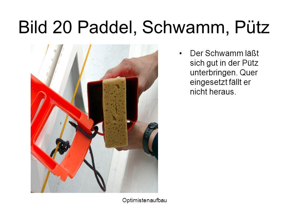 Bild 20 Paddel, Schwamm, Pütz