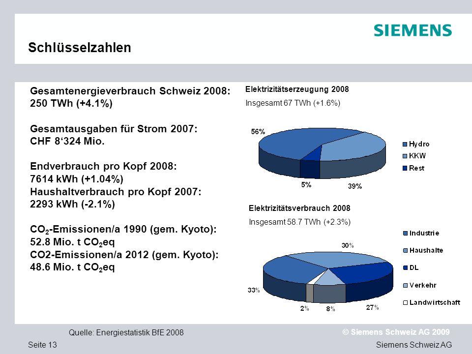 Elektrizitätsverbrauch 2008