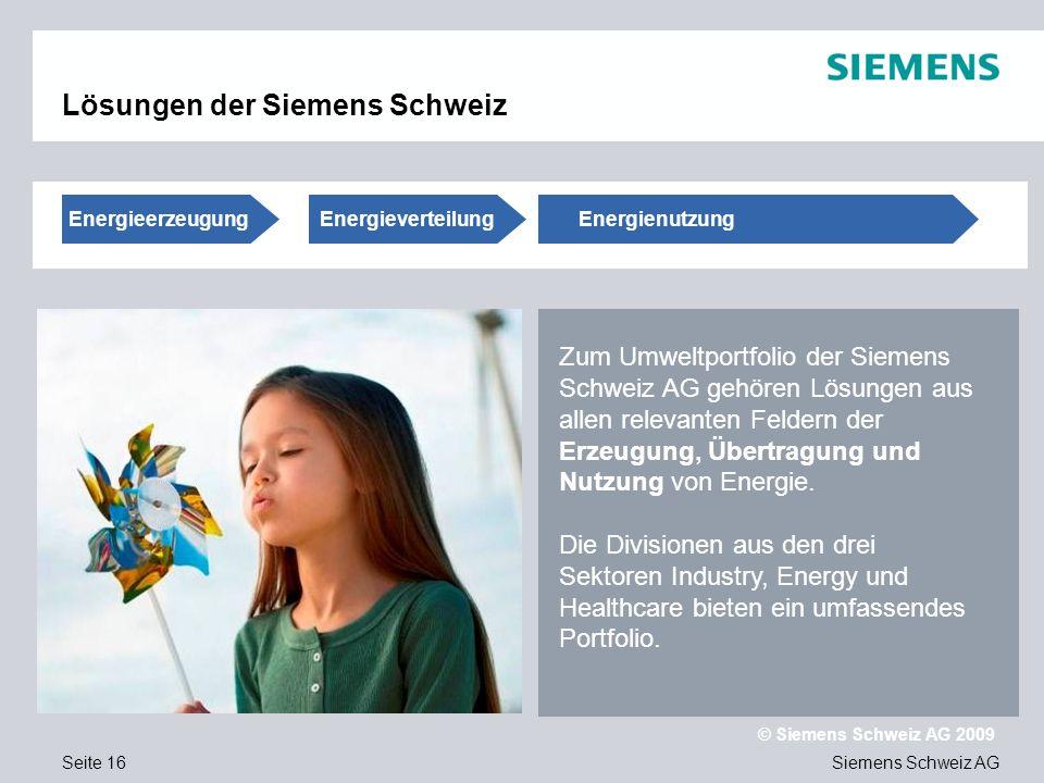 Lösungen der Siemens Schweiz