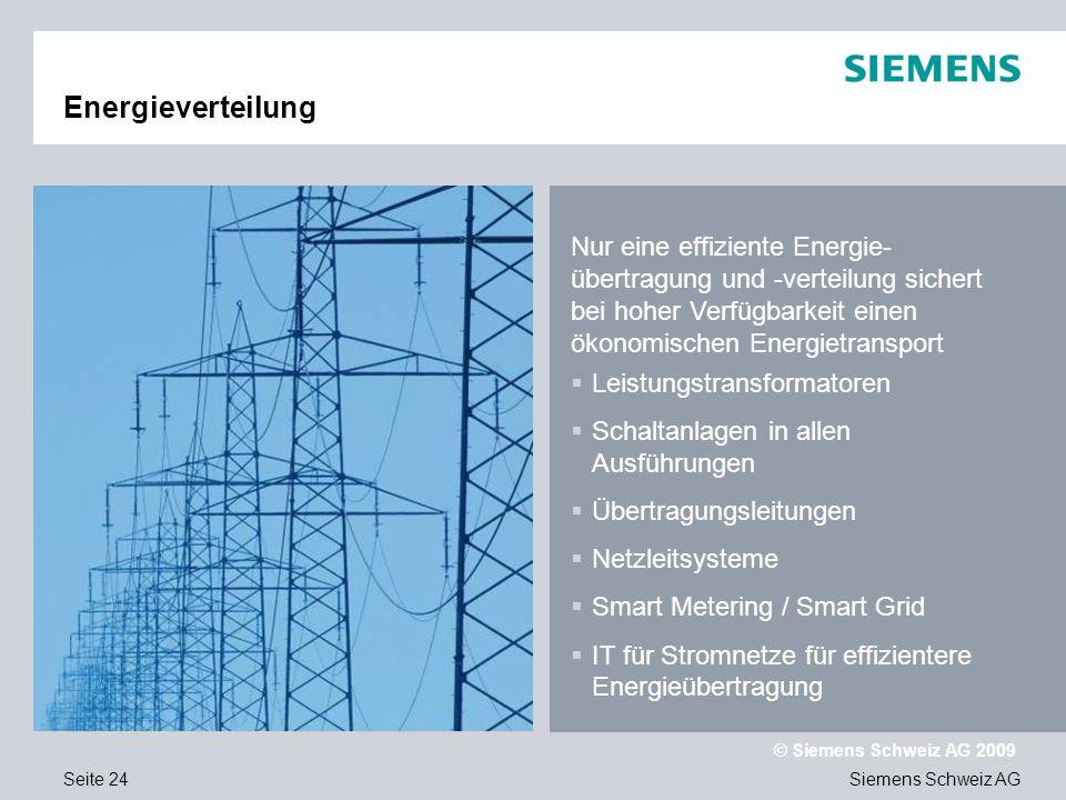 Text Energieverteilung. Nur eine effiziente Energie-übertragung und -verteilung sichert bei hoher Verfügbarkeit einen ökonomischen Energietransport.