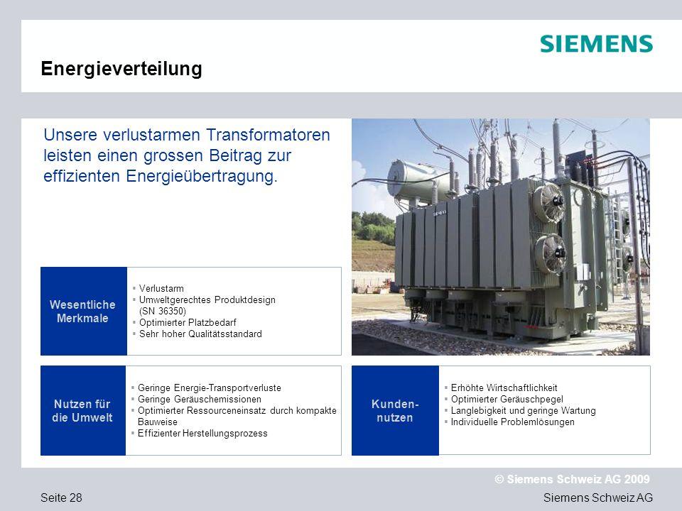 Text Energieverteilung. Unsere verlustarmen Transformatoren leisten einen grossen Beitrag zur effizienten Energieübertragung.