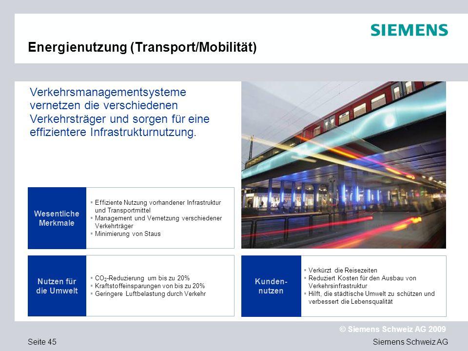 Energienutzung (Transport/Mobilität)