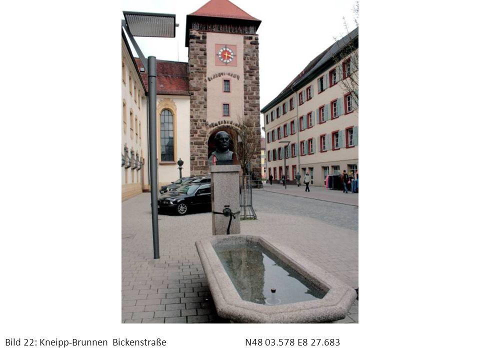 Bild 22: Kneipp-Brunnen Bickenstraße N48 03.578 E8 27.683