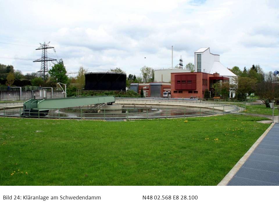 Bild 24: Kläranlage am Schwedendamm N48 02.568 E8 28.100
