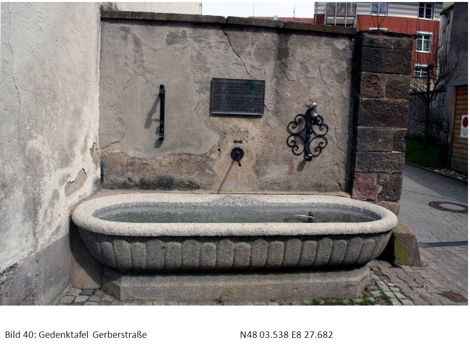Bild 40: Gedenktafel Gerberstraße N48 03.538 E8 27.682
