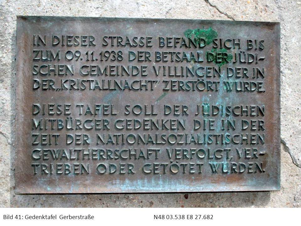 Bild 41: Gedenktafel Gerberstraße N48 03.538 E8 27.682