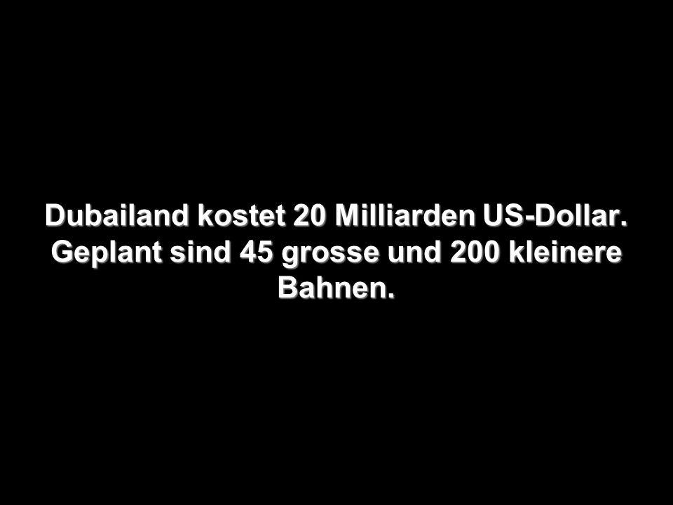 Dubailand kostet 20 Milliarden US-Dollar