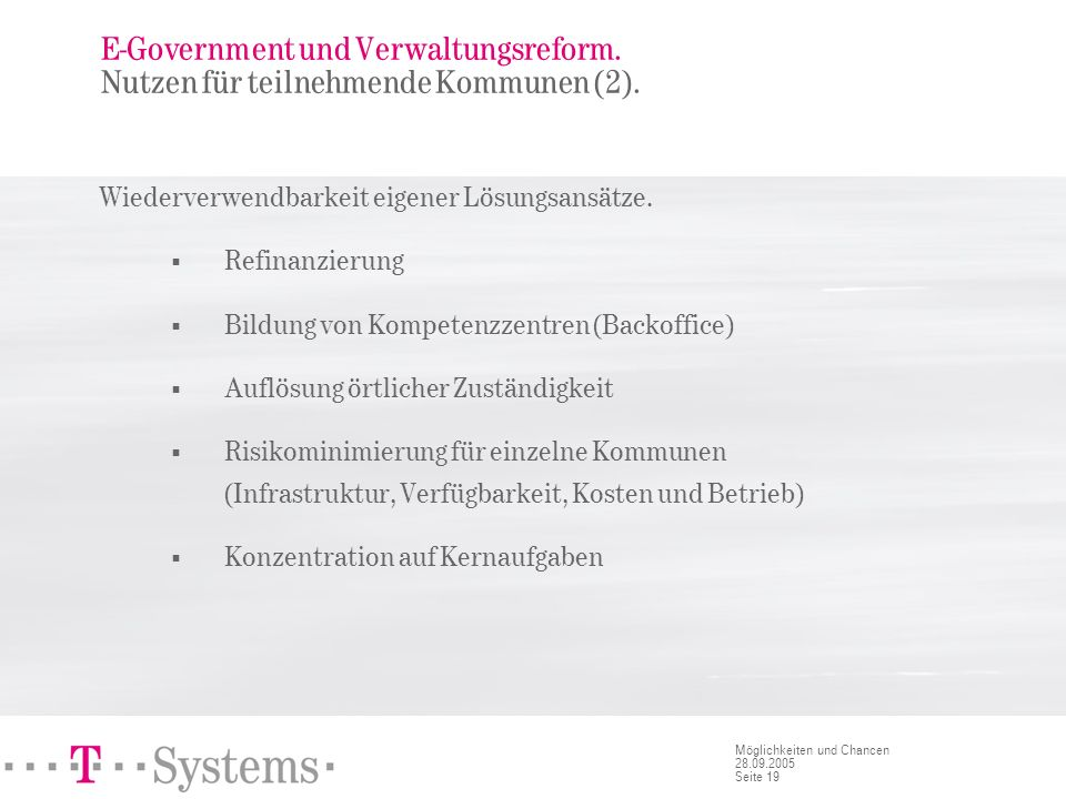 E-Government und Verwaltungsreform. Nachteile.