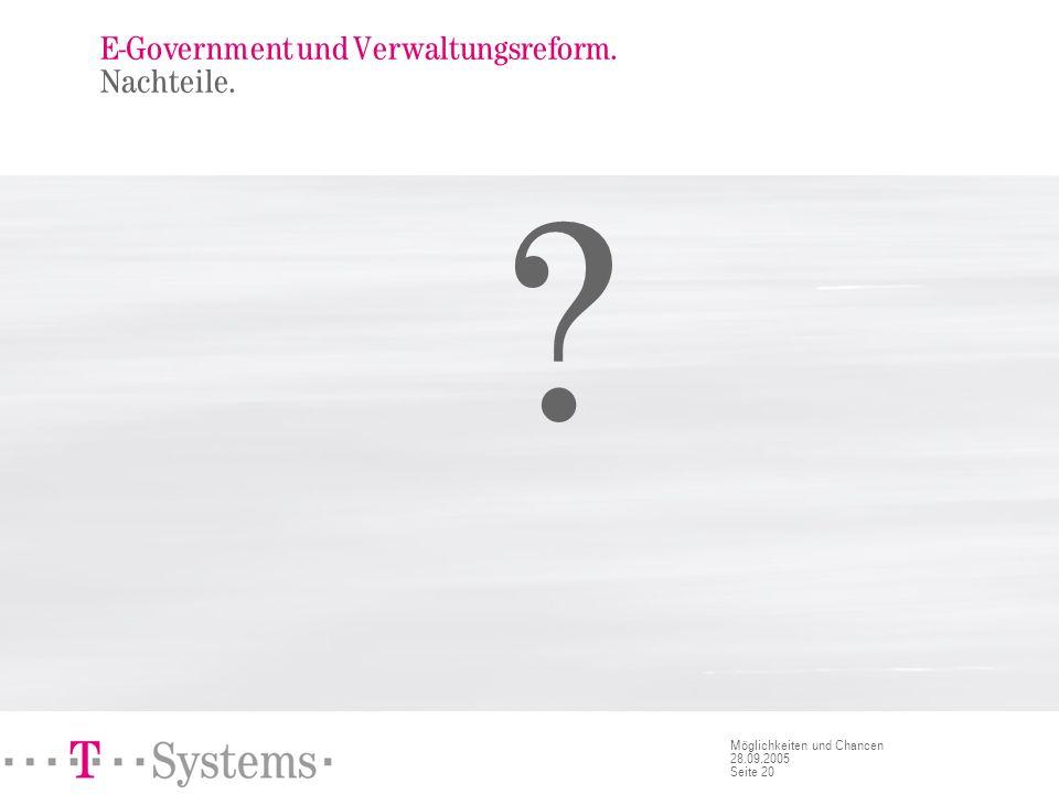 E-Government und Verwaltungsreform. Fazit.