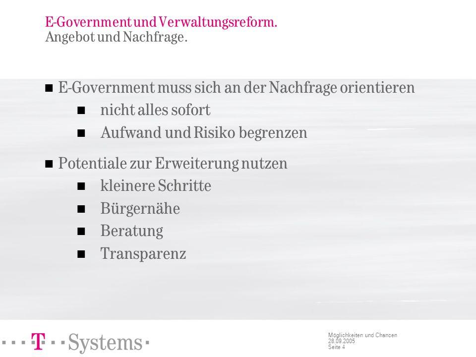 E-Government und Verwaltungsreform. Antrieb zur Reform.