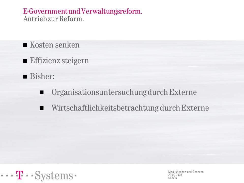 E-Government und Verwaltungsreform. Reformunfähigkeit