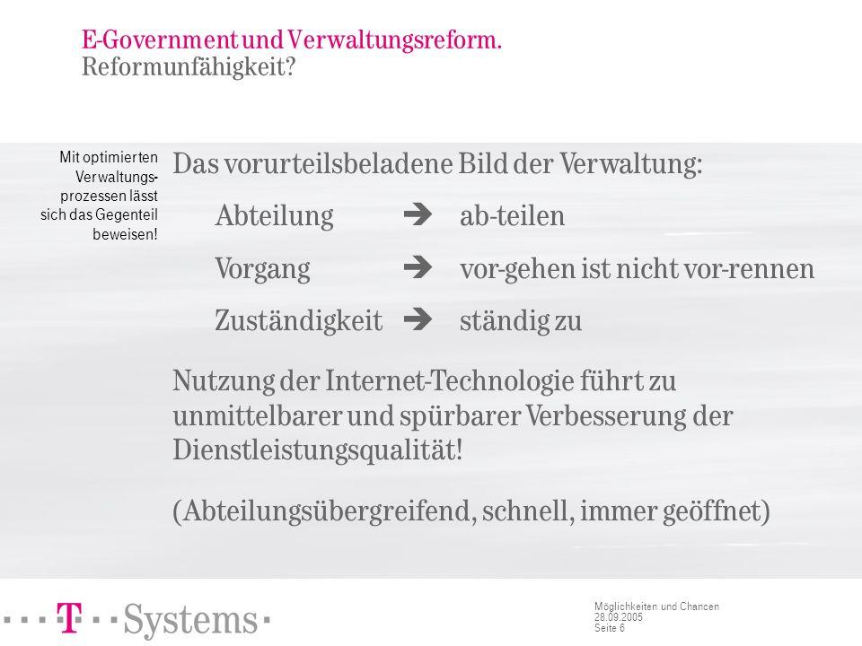 E-Government und Verwaltungsreform. Haushaltskrise.