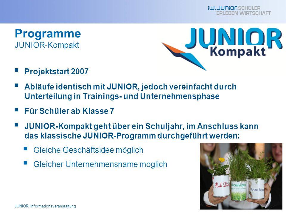Programme JUNIOR-Kompakt