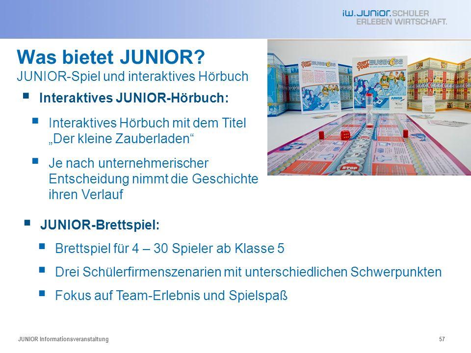 Was bietet JUNIOR JUNIOR-Spiel und interaktives Hörbuch