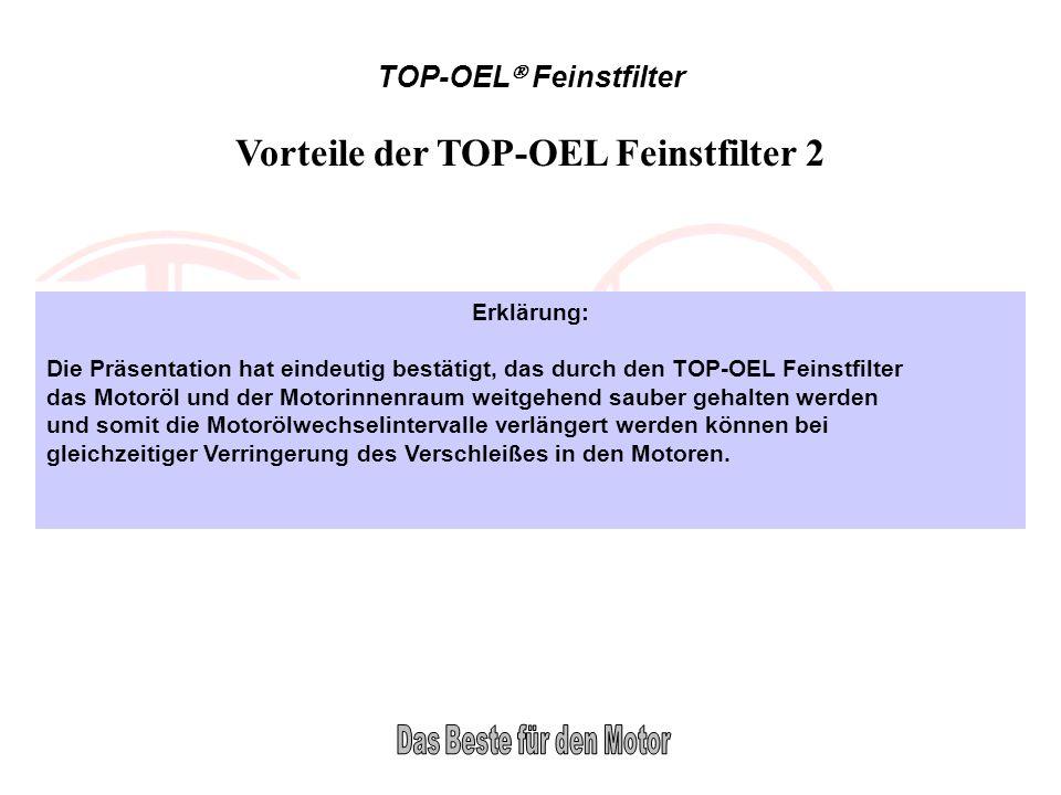 Vorteile der TOP-OEL Feinstfilter 2