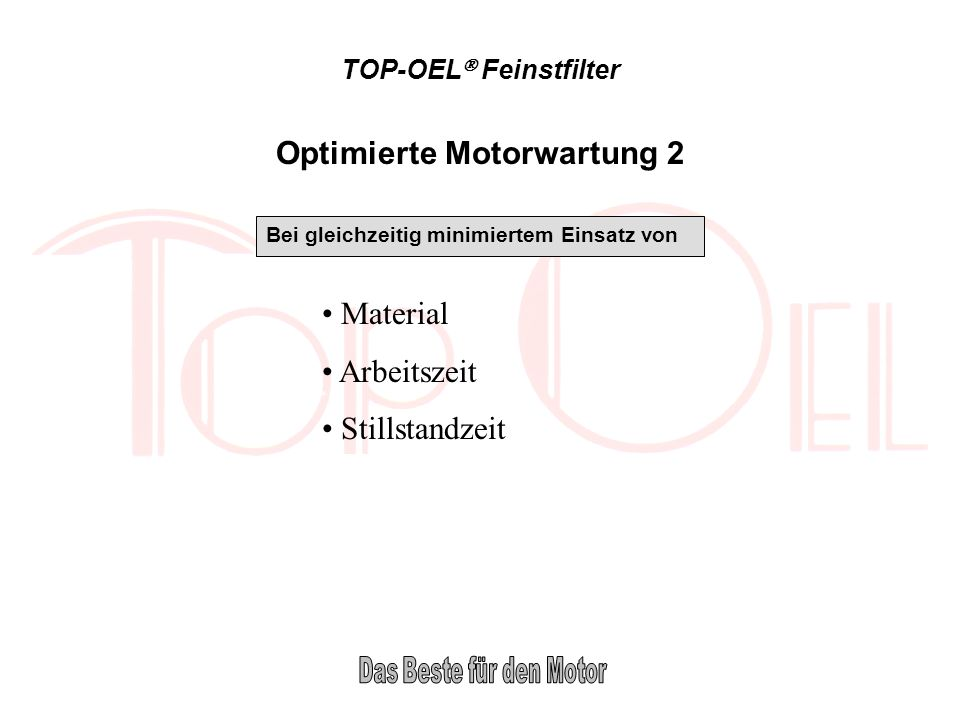 Optimierte Motorwartung 2