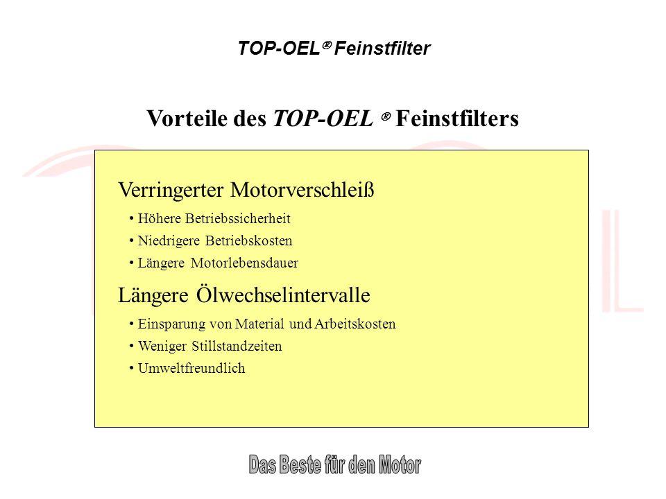 Vorteile des TOP-OEL  Feinstfilters