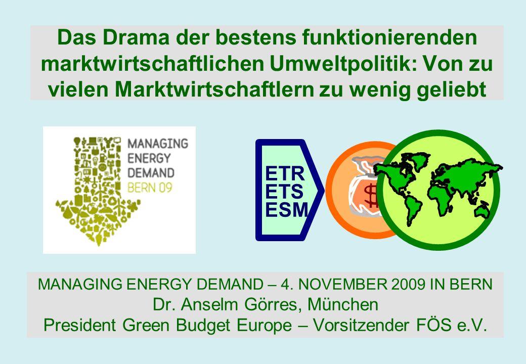 Das Drama der bestens funktionierenden marktwirtschaftlichen Umweltpolitik: Von zu vielen Marktwirtschaftlern zu wenig geliebt