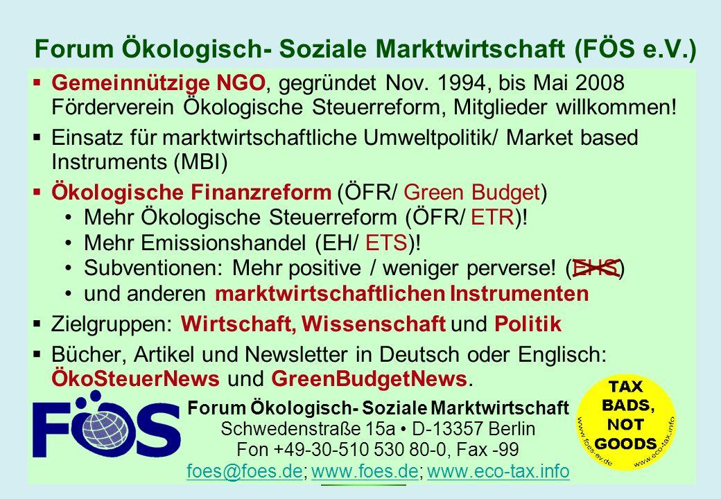 Forum Ökologisch- Soziale Marktwirtschaft (FÖS e.V.)