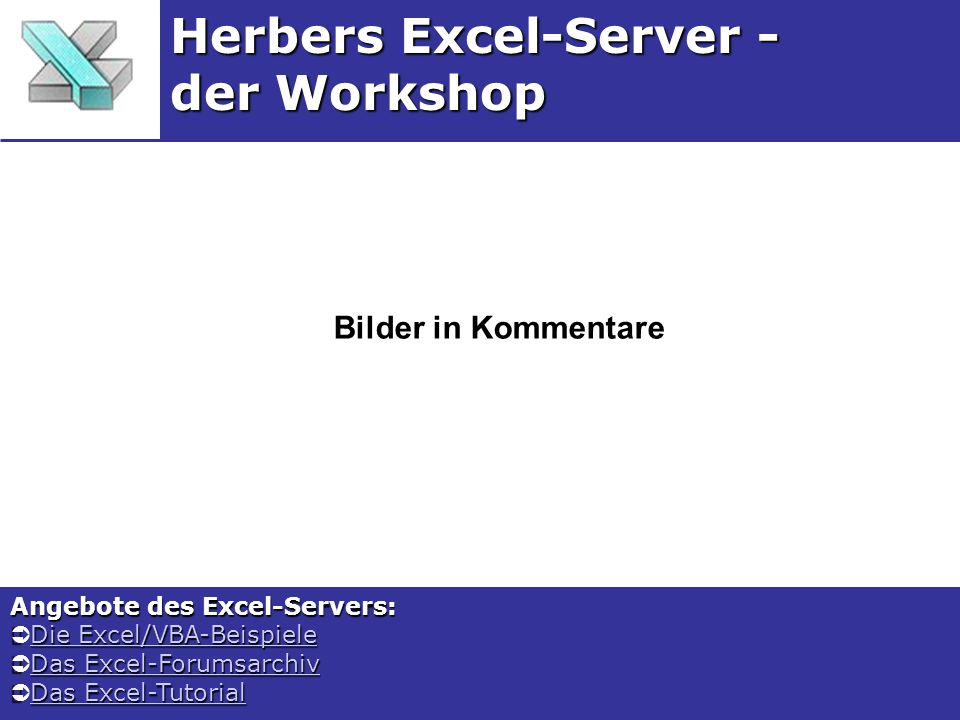 Herbers Excel-Server - der Workshop