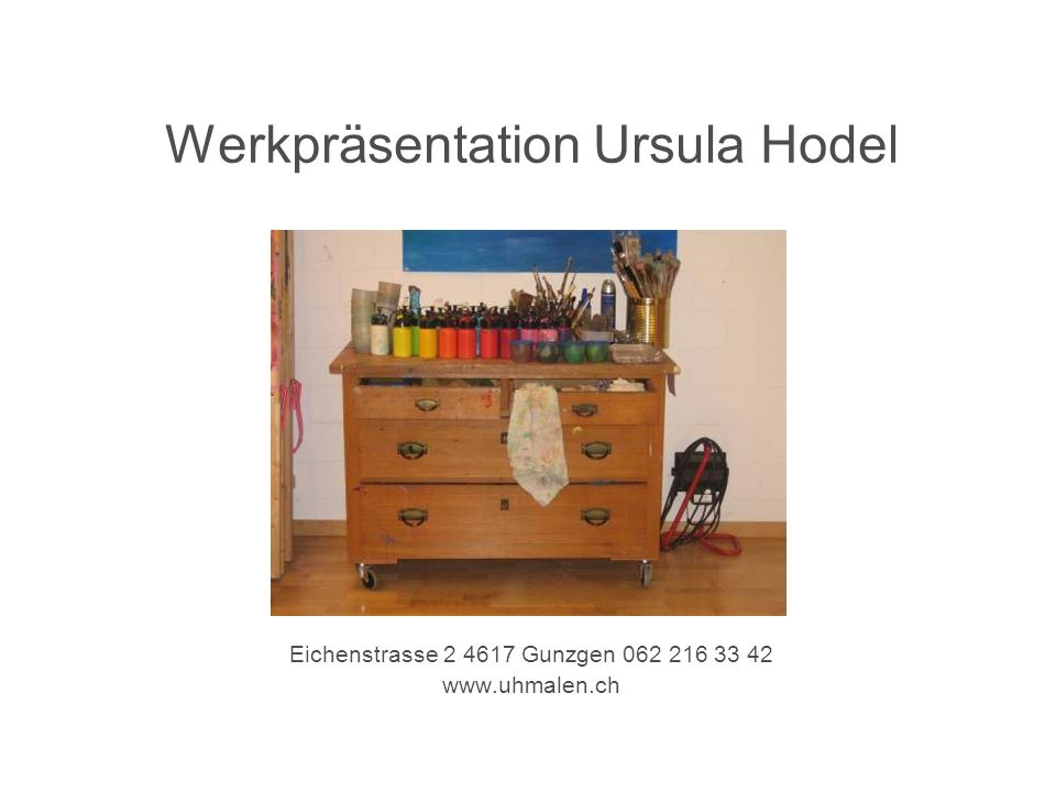 Werkpräsentation Ursula Hodel