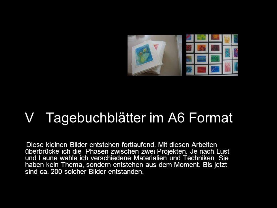 V Tagebuchblätter im A6 Format