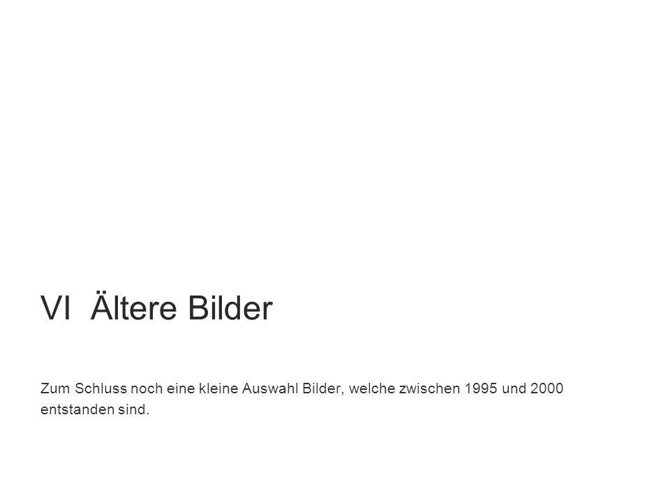 VI Ältere Bilder Zum Schluss noch eine kleine Auswahl Bilder, welche zwischen 1995 und 2000.
