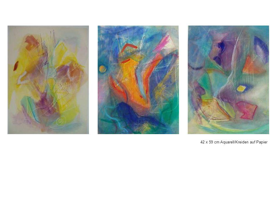 42 x 59 cm Aquarell/Kreiden auf Papier
