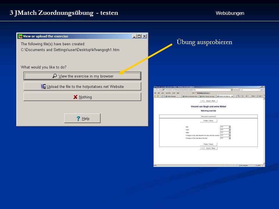 3 JMatch Zuordnungsübung - testen