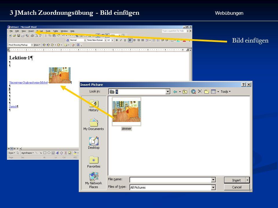 3 JMatch Zuordnungsübung - Bild einfügen