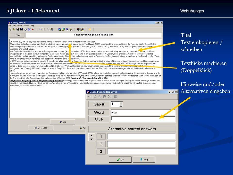 Text einkopieren / schreiben