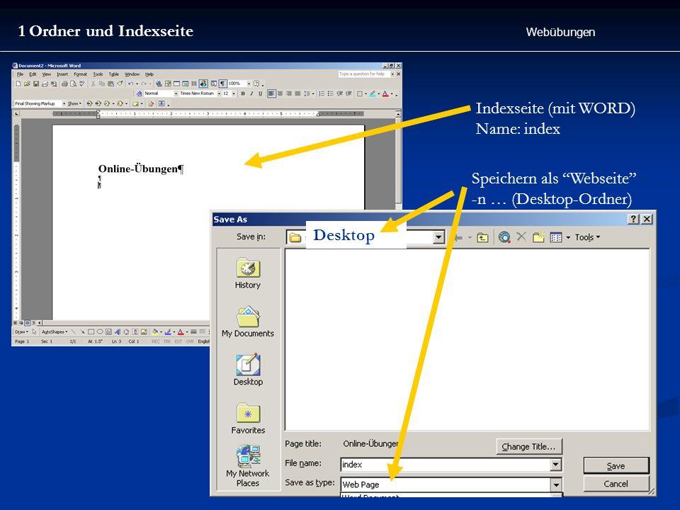 Speichern als Webseite -n … (Desktop-Ordner)
