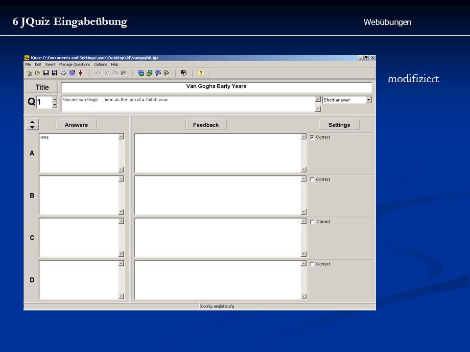 6 JQuiz Eingabeübung Webübungen modifiziert