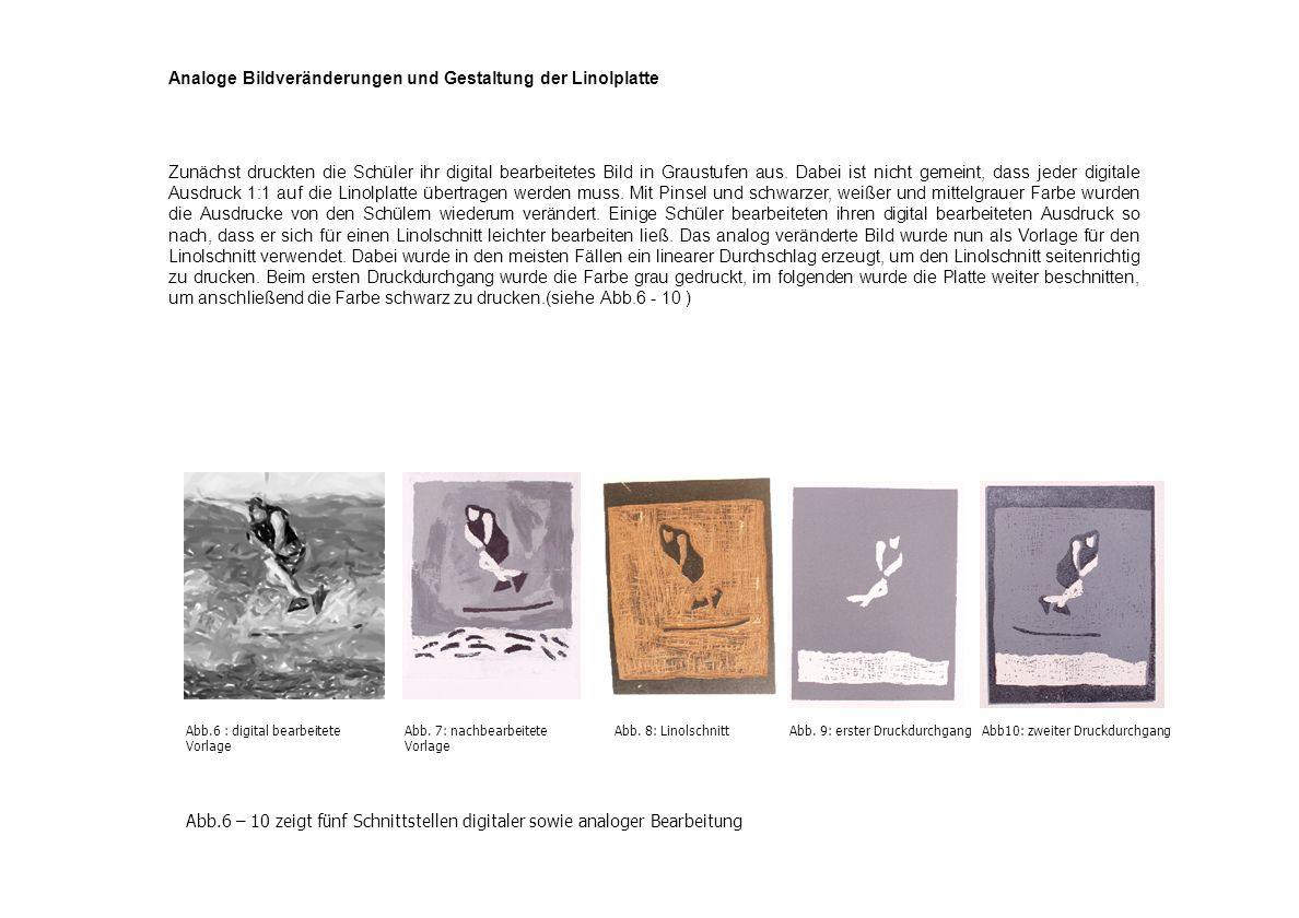 Analoge Bildveränderungen und Gestaltung der Linolplatte