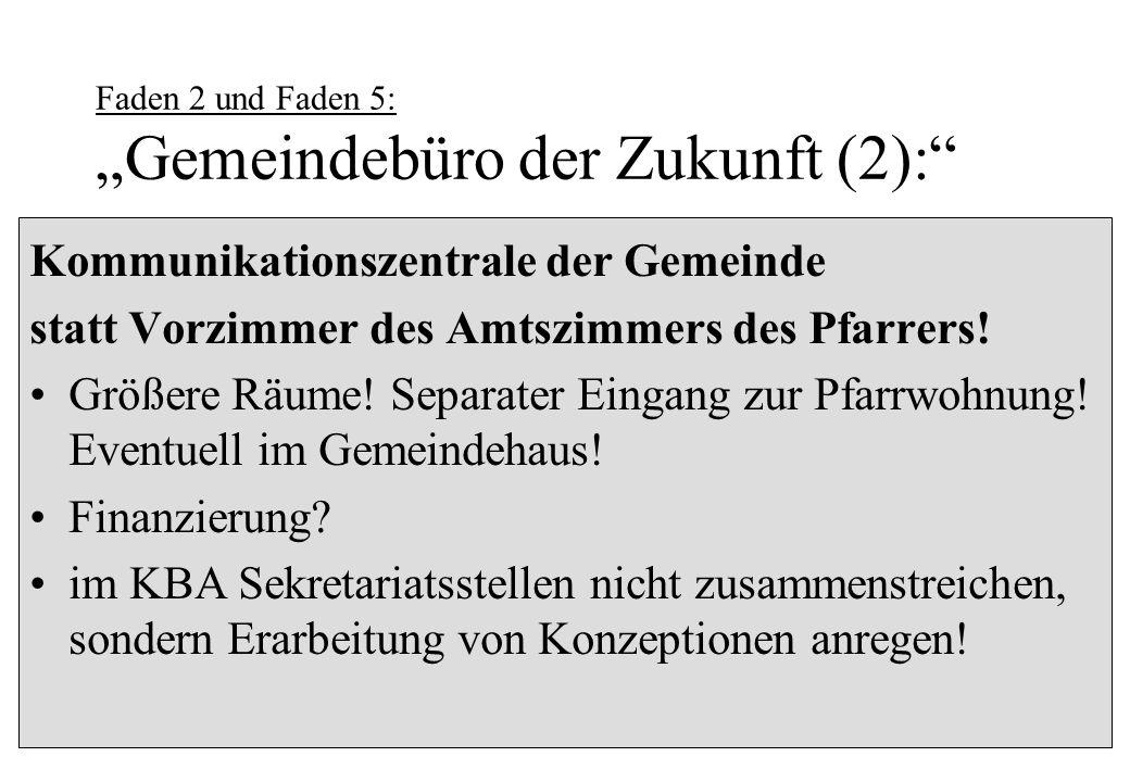 """Faden 2 und Faden 5: """"Gemeindebüro der Zukunft (2):"""