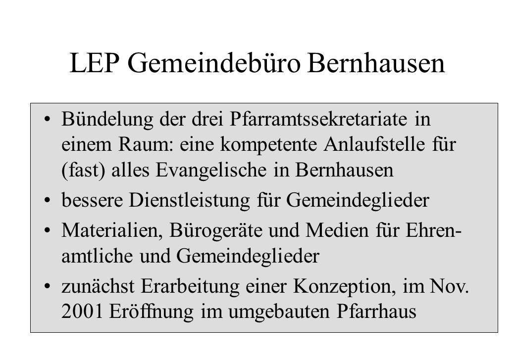 LEP Gemeindebüro Bernhausen